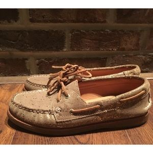 Sperry Top-Sider Gold Cup Leather Boat Shoe Sz 7.5